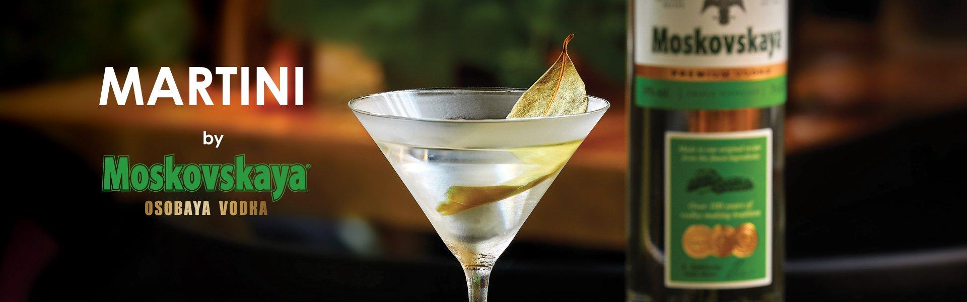 5 kokteiļi Vodka Martini ar degvīnu Moskovskaya