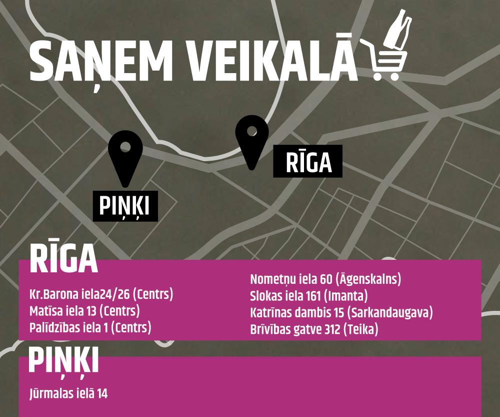 Bezmaksas alkohola piegāde uz Latvijas balzams veikalu